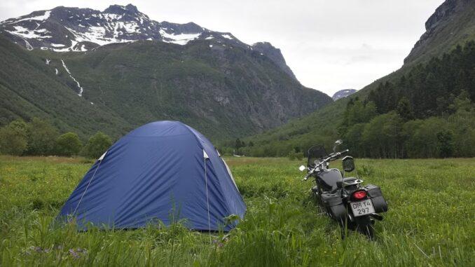 telttur i Norge med motorcykel